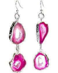 Tiana Jewel Savannah Pink Druzy Earrings Zahara Collection