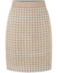 STUDIO MYR Pied-de-poule Knee Length Pencil Skirt - Blue