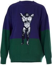 Acephala Bodybuilder Sweater Purple & Green
