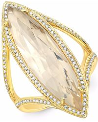 Anne Sisteron - Yellow Gold Diamond Topaz Serena Ring - Lyst