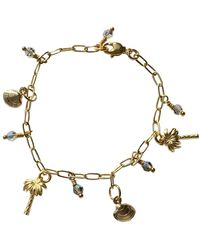 Tiana Jewel Tilly's Angels Swarvoski Crystal Charm Bracelet - Metallic