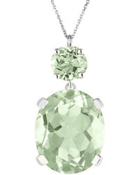 Augustine Jewels Green Amethyst Drop Necklace