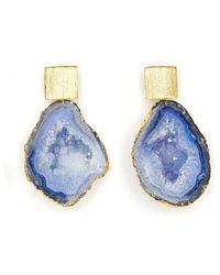 Magpie Rose Royal Blue Rocks In The Sky Earrings