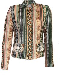 relax baby be cool Womens Short Jacket With Pearl Embroidery Green
