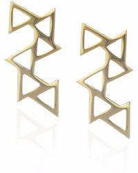 Sally Lane Jewellery - Ladder Of Life Gold Geometric Earrings - Lyst