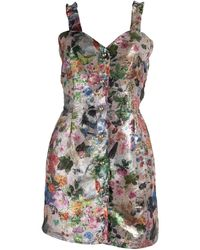 relax baby be cool Brocade Button Up Mini Dress - Multicolour