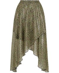 Nocturne Asymmetric Midi Skirt - Multicolour