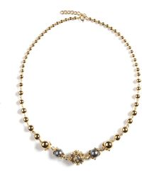 Kasun - Orb And Three Pearls Full Necklace - Lyst