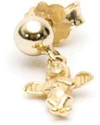 Serge Denimes - Gold Cherub Drop Earring - Lyst