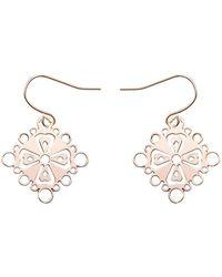 Mademoiselle Felee - Barcelona Familia Cross Earrings Gold - Lyst