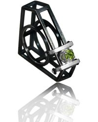 Karolina Bik Jewellery Super Man Ring Black