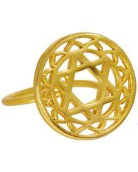 Ottoman Hands - Gold Heart Chakra Ring - Lyst
