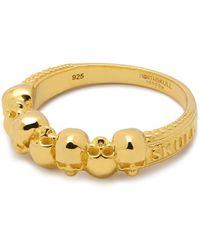 Northskull Septem Skull Band Ring In Gold - Metallic