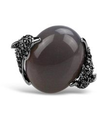 Bellus Domina Agate Umbra Dolphin Cocktail Ring - Grey