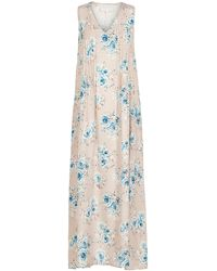 Lindsay Nicholas New York Maxi Dress In Pale Pink Floral