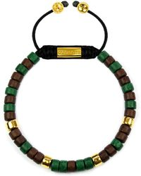 Clariste Jewelry - Men's Ceramic Bead Bracelet Green & Brown - Lyst