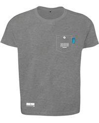 Anchor & Crew Athletic Grey Travel Print Organic Cotton T-shirt Mens