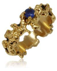 Karolina Bik Jewellery Out Of The Sea Ring With Sapphire - Metallic