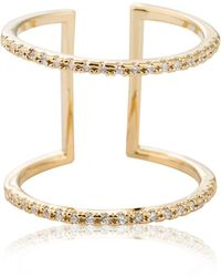 Astrid & Miyu - Double Bewitched Ring Gold - Lyst