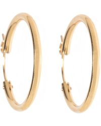 Durrah Jewelry Errday Gold Filled Hoops - Metallic