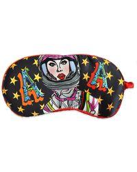 Jessica Russell Flint A For Astronaut Silk Eye Mask - Multicolour