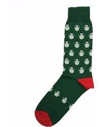 40 Colori - Green Snowman Organic Cotton Socks - Lyst