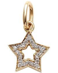 Kaizarin Yellow Gold & Diamond Super Star Pendant | - Metallic