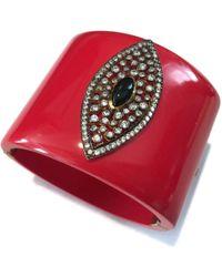 Meghna Jewels Evil Eye Red Marquise Cuff