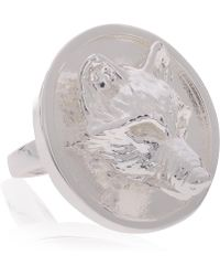 Alexa K - Silver Wolf Signature Ring - Lyst