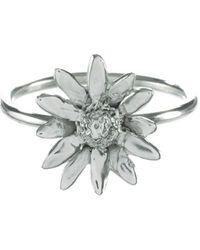 Lucy Flint Jewellery Daisy Sterling Silver Ring - Metallic