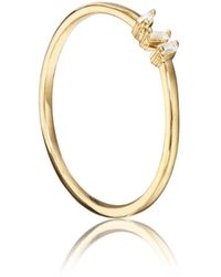 Lily & Roo Gold Three Baguette Diamond Style Ring - Metallic