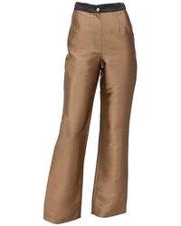 Kith & Kin Ziberline Stiff Look Trousers - Metallic