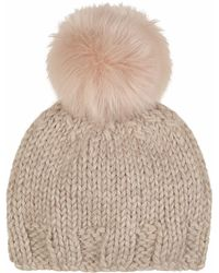 Gushlow and Cole Blossom Hand Knit And Shearling Beanie - Multicolour