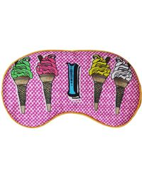 Jessica Russell Flint I For Ice Cream Silk Eye Mask - Pink