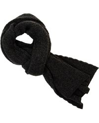 40 Colori - Charcoal Small Braided Wool & Cashmere Scarf - Lyst