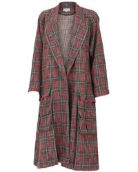 DANEH Red Plaid Light Coat