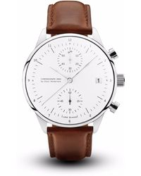 About Vintage | 1844 Chronograph Brown Strap | Lyst