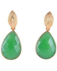 Magpie Rose Green Pear Drop Earrings