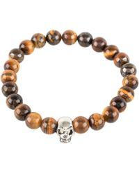 LÁTELITA London - Skull Bracelet Sterling Silver Tigers Eye - Lyst