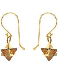 Mirabelle Merkaba Earrings - Metallic