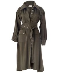DANEH High Collar Shirt Dress/jacket - Multicolour