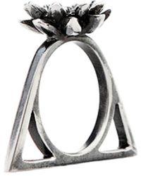 Glenda López - The Lotus Triangle Ring - Lyst