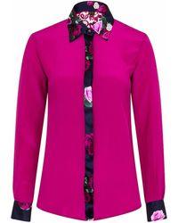 Sophie Cameron Davies - Berry Pink Rose Silk Shirt - Lyst
