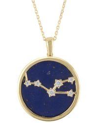 LÁTELITA London Zodiac Lapis Lazuli Gemstone Star Constellation Pendant Necklace Gold Taurus - Metallic