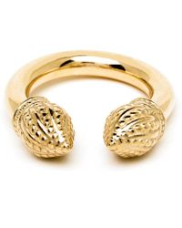 Durrah Jewelry Gold Cylinder Ring - Metallic