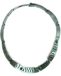 Jan D - Oxidized Necklace - Lyst