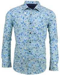 lords of harlech Norman In Wispy Floral Sky - Blue