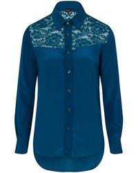 Sophie Cameron Davies   Teal Classic Silk Shirt   Lyst