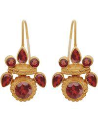 Carousel Jewels - Intricate Garnet Heritage Earrings - Lyst