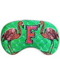 Jessica Russell Flint F For Flamingo Silk Eye Mask - Green